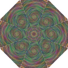 Spiral Spin Background Artwork Hook Handle Umbrellas (small) by Nexatart