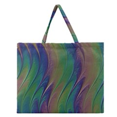 Texture Abstract Background Zipper Large Tote Bag by Nexatart