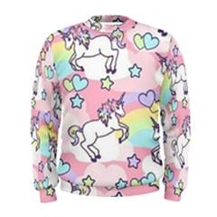 Unicorn Rainbow Men s Sweatshirt by Nexatart