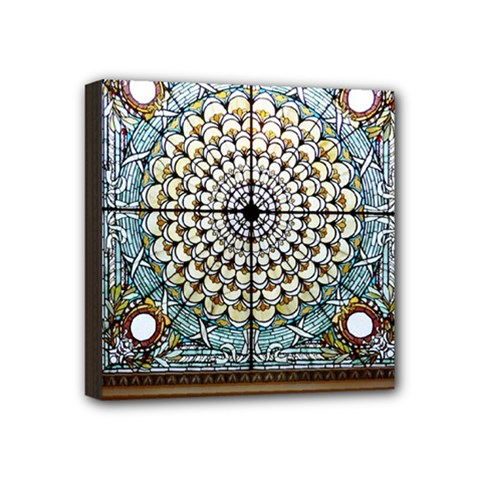Stained Glass Window Library Of Congress Mini Canvas 4  X 4  by Nexatart