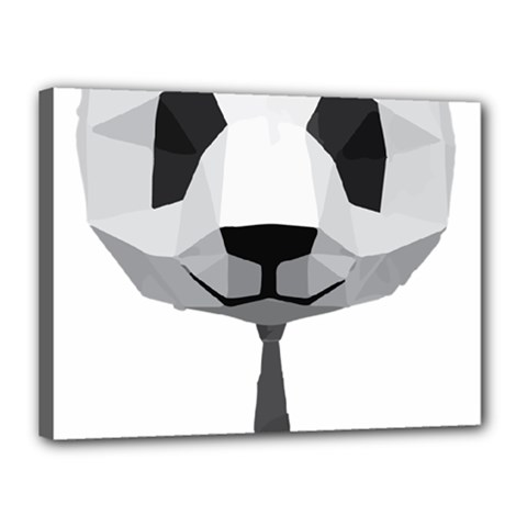 Office Panda T Shirt Canvas 16  X 12  by AmeeaDesign