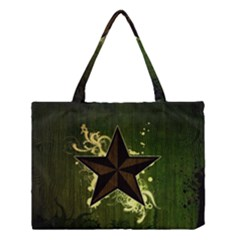 Star Dark Pattern  Medium Tote Bag by amphoto