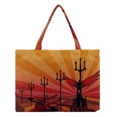 Wings Drawing Poles  Medium Tote Bag by amphoto