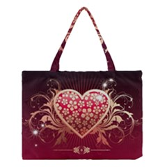 Heart Patterns Lines  Medium Tote Bag by amphoto