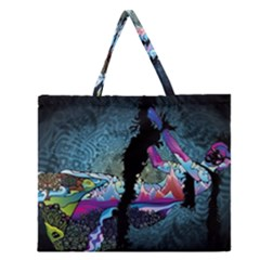 Girl Dress Fly  Zipper Large Tote Bag by amphoto