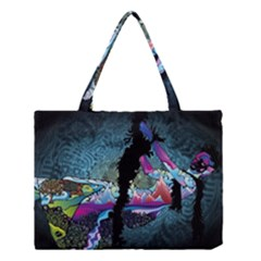 Girl Dress Fly  Medium Tote Bag by amphoto