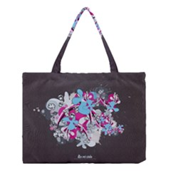 Skulls Ghosts Illustration  Medium Tote Bag by amphoto