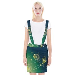 Butterfly Pattern Circles  Braces Suspender Skirt by amphoto