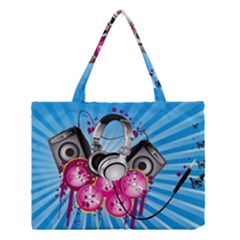 Speakers Headphones Colorful  Medium Tote Bag by amphoto