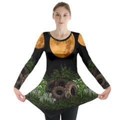 Ecology  Long Sleeve Tunic  by Valentinaart
