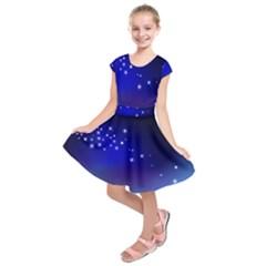 Point Way Glitter Kids  Short Sleeve Dress by amphoto