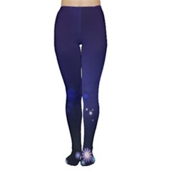 Flowers Stars Dots  Women s Tights by amphoto