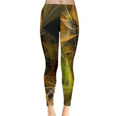 Lines Circles Bright  Leggings  by amphoto