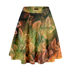 Leaves Plant Multi Colored  High Waist Skirt by amphoto