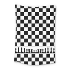 Chess  Small Tapestry by Valentinaart