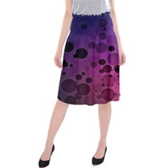 Circles Surface Light  Midi Beach Skirt