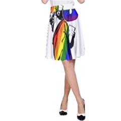 Lgbt New York A Line Skirt by Valentinaart