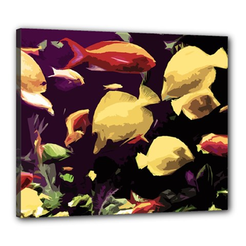 Tropical Fish Canvas 24  X 20  by Valentinaart