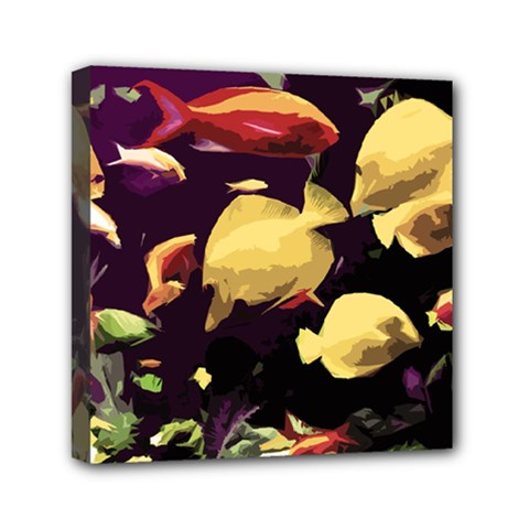 Tropical Fish Mini Canvas 6  X 6  by Valentinaart