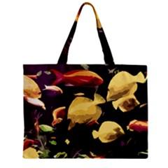 Tropical Fish Zipper Mini Tote Bag by Valentinaart