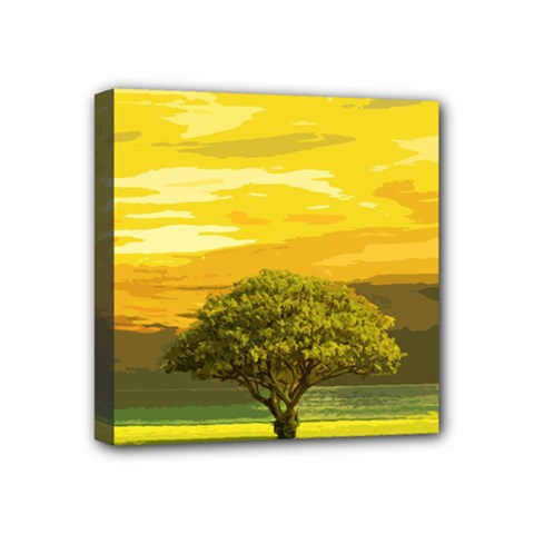 Landscape Mini Canvas 4  X 4  by Valentinaart