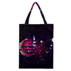 Fragments Planet World 3840x2400 Classic Tote Bag by amphoto
