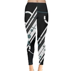 Line Pattern Light  Leggings  by amphoto