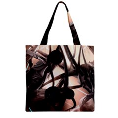 Connection Shadow Background  Zipper Grocery Tote Bag by amphoto