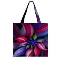 Flower Rotation Form  Zipper Grocery Tote Bag by amphoto