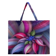 Flower Rotation Form  Zipper Large Tote Bag by amphoto