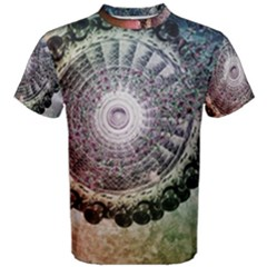 Circle Figures Background  Men s Cotton Tee by amphoto