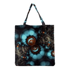Spiral Background Form 3840x2400 Grocery Tote Bag by amphoto