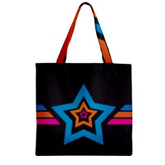 Star Background Colorful  Zipper Grocery Tote Bag by amphoto