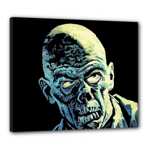 Zombie Canvas 24  X 20  by Valentinaart