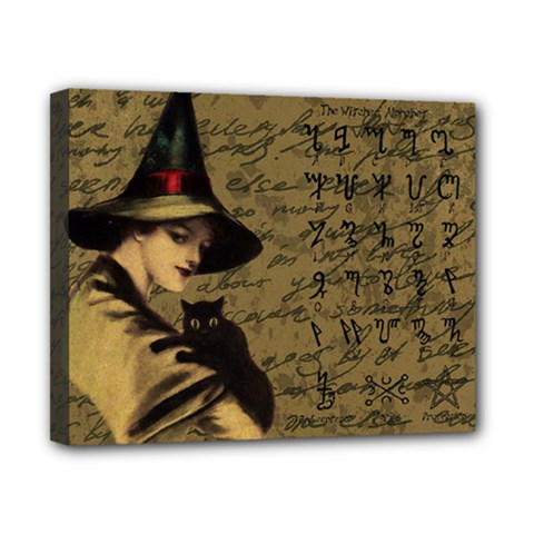 Witchcraft Vintage Canvas 10  X 8  by Valentinaart