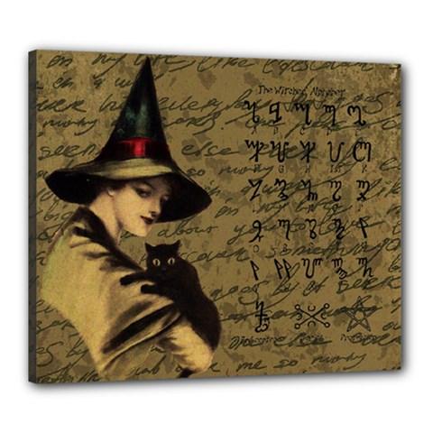 Witchcraft Vintage Canvas 24  X 20  by Valentinaart