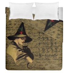 Witchcraft Vintage Duvet Cover Double Side (queen Size) by Valentinaart