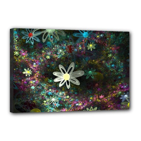 Flowers Fractal Bright 3840x2400 Canvas 18  X 12  by amphoto