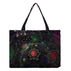 Shapes Circles Flowers  Medium Tote Bag by amphoto