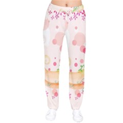 Curl Butterfly Flowers Drawstring Pants by amphoto