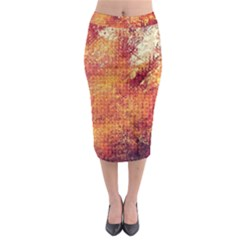 Surface Points Dirt  Midi Pencil Skirt by amphoto