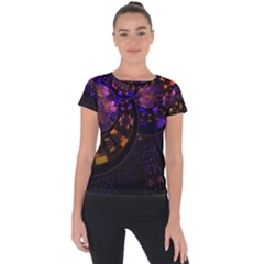 Circles Background Pattern  Short Sleeve Sports Top
