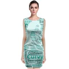 Belicious World Curvy Girl Wordle Classic Sleeveless Midi Dress by beliciousworld