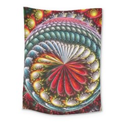 Circles Lines Background  Medium Tapestry by amphoto