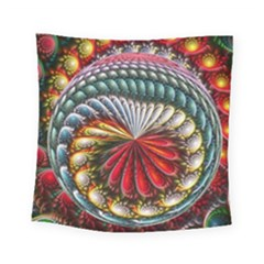 Circles Lines Background  Square Tapestry (small) by amphoto