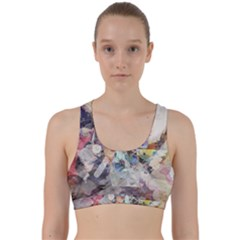 Surface Dark Colorful  Back Weave Sports Bra