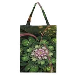 Fractal Flower Petals Green  Classic Tote Bag by amphoto