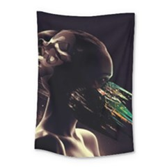 Face Shadow Profile Small Tapestry by amphoto