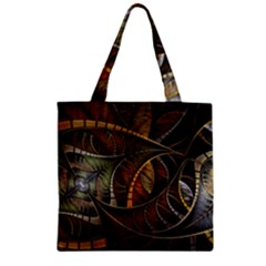 Mosaics Stained Glass Colorful  Zipper Grocery Tote Bag by amphoto
