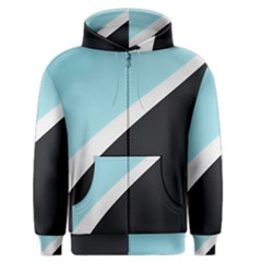 Lines Wavy Strip  Men s Zipper Hoodie by amphoto